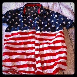 Patriotic button down shirt